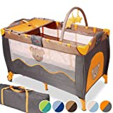 infantastic� KRB02HoneyBear Baby bed travel cot portable with toys entryway 0-36 months grey / orangeby infantastic�