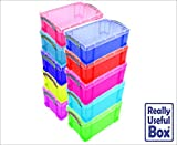 Really Useful Plastic Boxes 9 Litre, Pack of 10 Boxes, ASSTD LOT DEAL