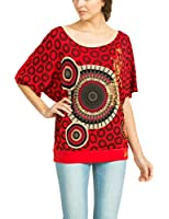 Desigual Mawi - T-shirt - Empire - Imprimé - Col bateau - Manches courtes - Femme