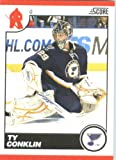 2010 /11 Score Hockey Card # 425 Ty Conklin St. Louis Blues
