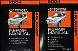 img - for 2004 Toyota 4Runner Repair Manual Original 2 Volume Set book / textbook / text book