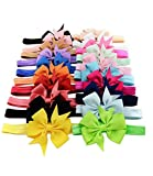 Jastore® Baby Girls Hairband Head Hair Bows for Photographic Accessories (20 Pieces)