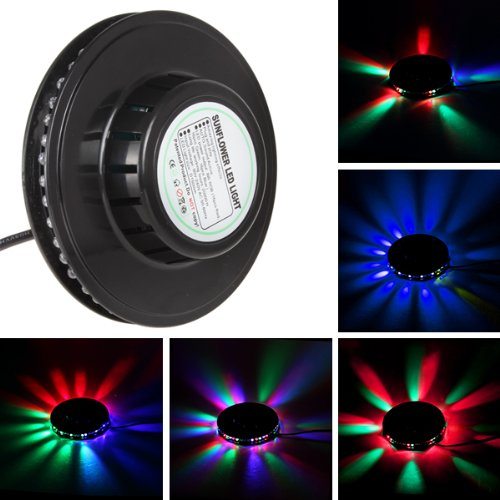 Origlam® Sunflower 48Leds 8W Voice-Actived Rgb Led Stage Light For Disco, Bar, Dj, Party