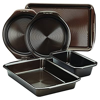 Circulon Nonstick Bakeware 10-Piece Bakeware Set, Chocolate Brown