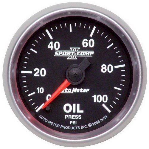 Auto Meter 2-1//16 Phantom Boost Gauge 0-15psi