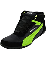 Essence Men's Green Black Synthetic High Top Shoes