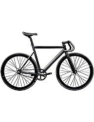 State Bicycle 6061 Black Label Fixed Gear Bike - Matte Black, 62 cm