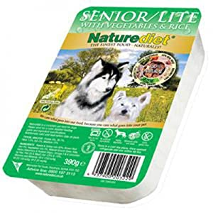 Naturediet Dog Food Senior/Lite 390 g (Pack of 18) by Naturediet