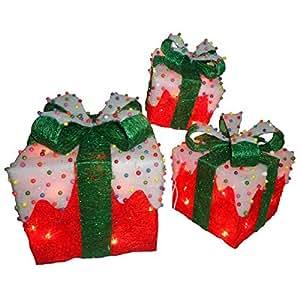 Amazon.com - Conjunto de # red Sisal cajas de regalo con show y 50