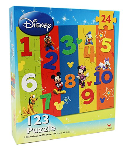 24 Piece Disney 123 Kids Beginner Puzzle - 1