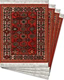 MouseRug SSH-C Coaster Rugs Geometric Shekarlu Asian Collection - Red