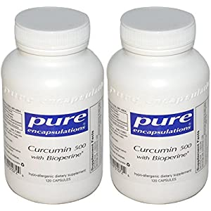 Pure Encapsulations - Curcumin 500 With Bioperine 120 VegiCaps - 2 Pack