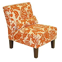 Product Image Canary Print Slipper Chair - Orange