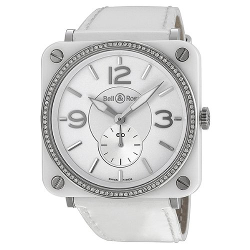 Bell & Ross Aviation Diamond White Ceramic Ladies Watch BRS-98-WCS
