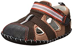 pediped Sahara Originals Fisherman Sandal (Infant/Toddler),Earth,Small (6-12 Months)