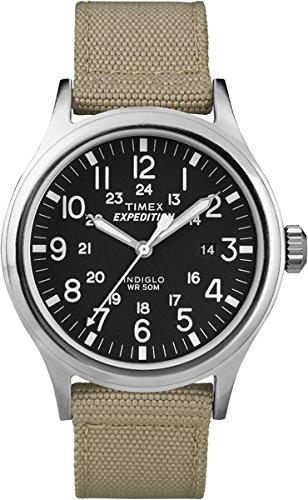 Timex T49962 Orologio Analogico da Polso da Uomo, Nylon, Beige