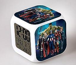 Mxnpolar The Avengers 2 Cosplay Alarm Clock LED Light Nightlight Accessories (B)