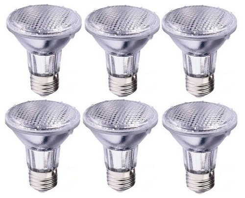 (6 Pcs) 50Par20/Nfl 50W Par20 Narrow Flood Halogen 120V Light Bulbs