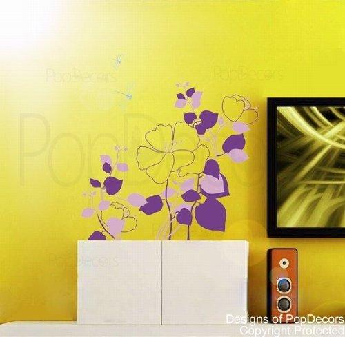popdecors-motivo-camelie-con-libellule-8001-315-h-custom-cm-albero-adesivo-da-parete-per-bambini-sta
