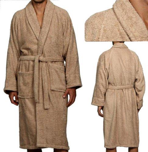 Marrikas Unisex Large Egyptian Cotton Taupe Robe front-844584