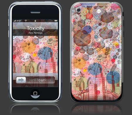 Apple iPhone Premium Vinyl Skin - Toxicity (Gelaskins Brand) Made in Canada