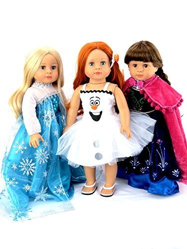 """Princess Anna, Queen Elsa, and Olaf Frozen Inspired Outfits 