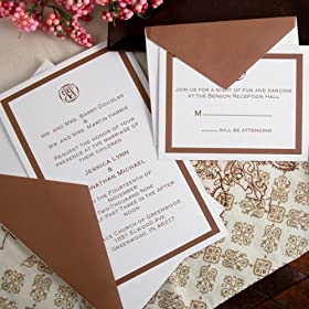Chocolate Border Invitation Kit