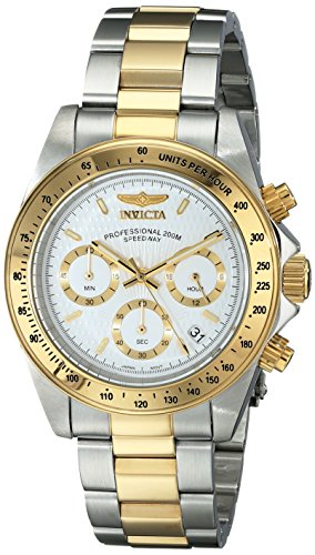 Invicta Men's 9212 Speedway Collection 18k Gold Plating and Stainless Steel Watch image