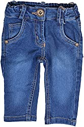 Little Kangaroos Baby Girls' Relaxed Jeans (HF17, Blue)