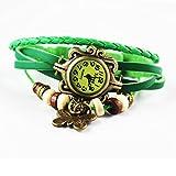 Shopizone Fancy Vintage Retro Butterfly Watch for Women - Green