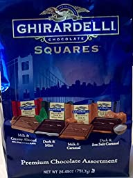 Ghirardelli Premium Chocolate Assortment Squares Blue, 26.49oz