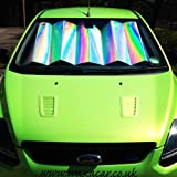 Interior Protection And Cooling Front Window Windscreen Silver Foil Reflective and Foldable Car UV Laser Sun Shade Block Screen To Fit Peugeot 307 CC