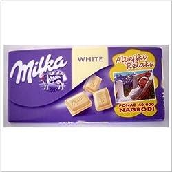 World's Best Milka Chocolate - White Only, 10 Bars