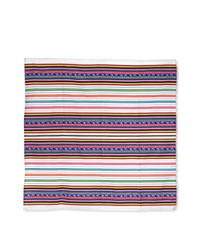 Uptown Down Found Woven Throw, White/Multi