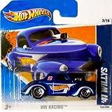 2011 Hot Wheels 41 Willys (Blue W/Logo) #152/244, Hw Racing #2/10 (Short Card)