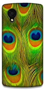 The Racoon Grip printed designer hard back mobile phone case cover for LG Nexus 5. (Bright Fea)