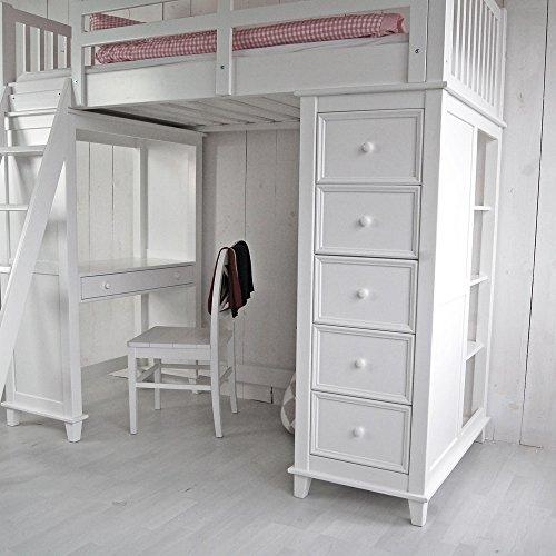lounge zone raumwunder multifunktions hochbett jockey inkl regalen 5 schubladen schreibtisch. Black Bedroom Furniture Sets. Home Design Ideas