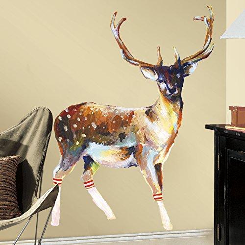 RoomMates 54374RM-Renna con calze adesivo da parete, pvc, Multicolore, 13x 2,5x 45,5cm