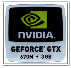 NVIDIA GEFORCE GTX 670M.3GB Logo Stickers Badge for Laptop and Desktop Case -12000082