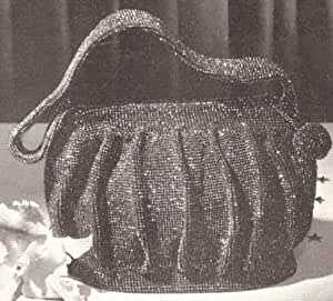 Crochet Evening Bag Pattern : : Vintage Crochet PATTERN to make - Beaded Evening Bag Purse Handbag ...