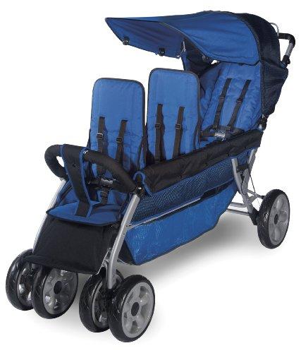Foundations Worldwide Foundations Regette Blue 3 Passenger Stroller, LX3 - 1
