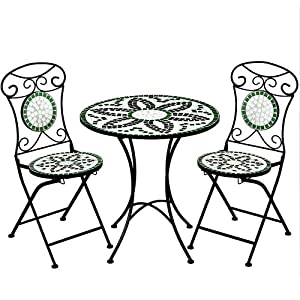 salon de jardin floralis mosaique 1 table et 2 chaises. Black Bedroom Furniture Sets. Home Design Ideas