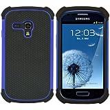 kwmobile® Funda híbrida para Samsung Galaxy S3 Mini i8190 en Azul. Interior de gel TPU, ¡estructura rígida! Ideal para uso al aire libre y ultramoderna