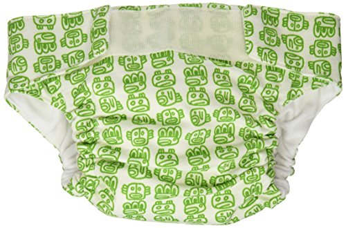 CuteyBaby That's a Wrap and Super Duper Soaker Insert, Kelly Green Tribal