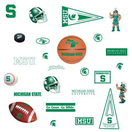 RoomMates RMK1277SCS Michigan State University Peel & Stick Wall Decals