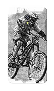 KnapCase Cyclist Designer 3D Printed Case Cover For Micromax Canvas Fire 4G Q411