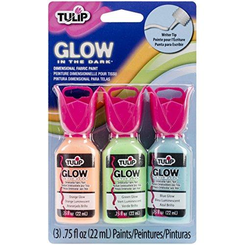 Tulip Dimensional Fabric Paint Set, Glow-In-The Dark Black Light