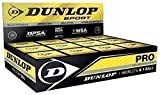 New Official Dunlop Pro Elastic Hydrocarbon Polymer Squash Balls Tube Of 3