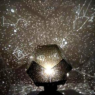 Ddl Diy Romantic Galaxy Starry Sky Projector Night Light (2Xaa/Usb)
