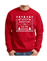 Christmas Crewneck Immitation Snowflake Sweatshirt